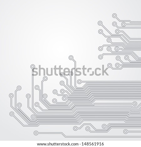 Abstract background with a circuit board texture. EPS10 vector. - stock vector