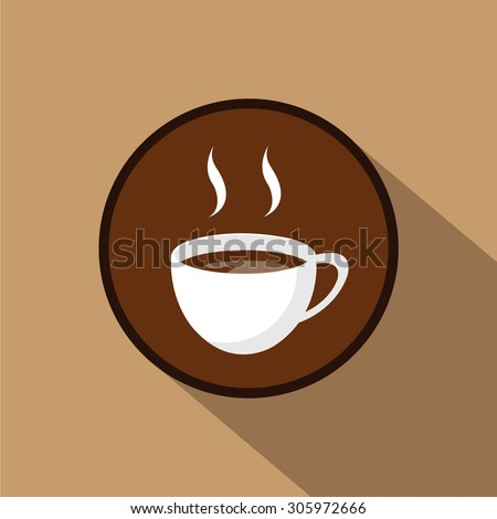 Abstract background with a cup of coffee. for menu, restaurant, cafe, bar, coffeehouse. Outline , shadow - stock vector