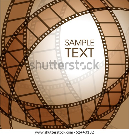 Abstract background with a film strip - stock vector