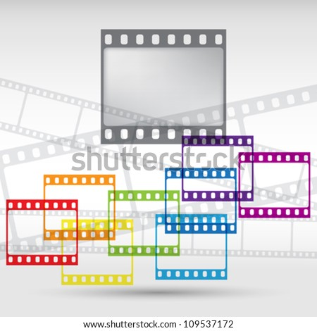Abstract background with a film strip. Vector Eps 10. - stock vector