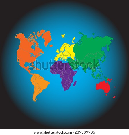 Abstract background with a map of the world - stock vector