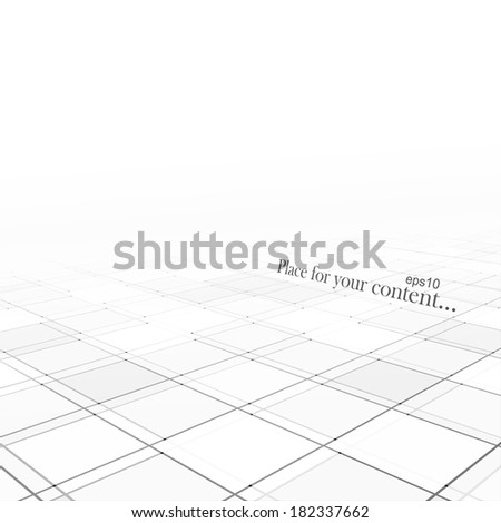 Abstract background with a perspective, white business template for your design. Vector illustration. - stock vector
