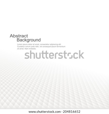 Abstract background with a perspective. White soft texture. Vector illustration - stock vector