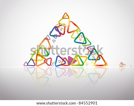 abstract background with a triangle motif - stock vector
