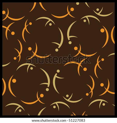 Abstract Background with Active Silhouettes - stock vector