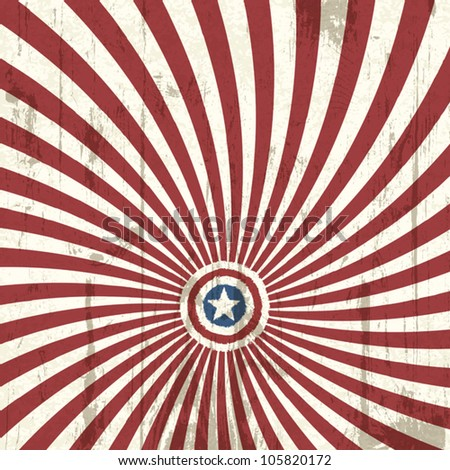 Abstract background with american flag elements. Vector illustration, EPS 10 - stock vector