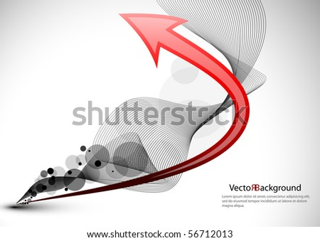 Abstract background with arrow. Business card.EPS10 vector. - stock vector