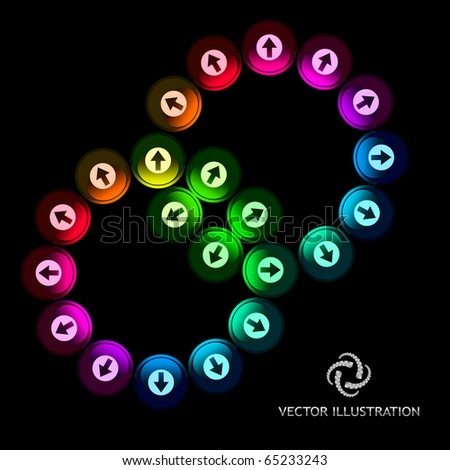 Abstract background with arrow signs. Vector illustration. - stock vector