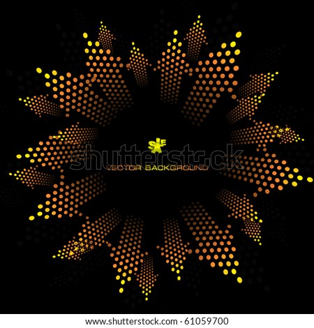 Abstract background with arrows. - stock vector