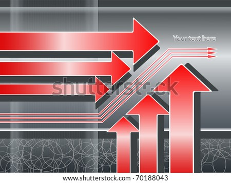 Abstract background with arrows, increase/growth/hit the target concept - stock vector