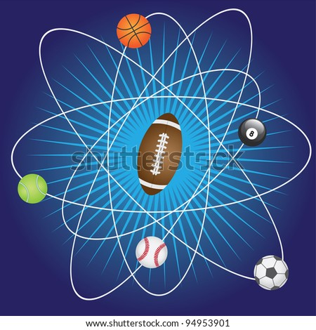 Abstract background with balls for sport games. - stock vector