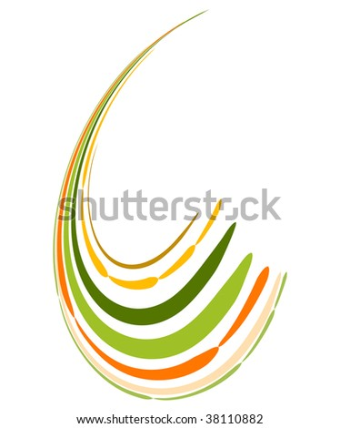 Abstract background with bent lines. Vector illustration - stock vector