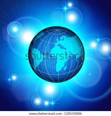 Abstract background with binary planet. EPS10 vector - stock vector
