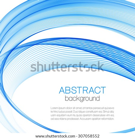Abstract background with blue curves - stock vector
