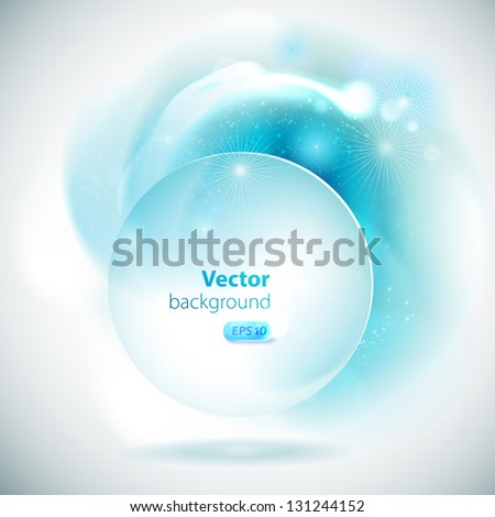 Abstract background with blue elements. - stock vector