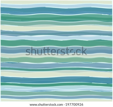 Abstract background with blue wavy pattern ornament - stock vector