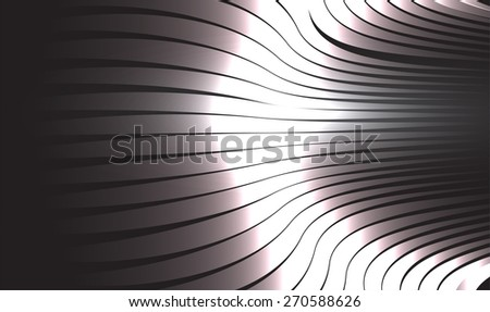 abstract background with blurred magic neon light rays. Vector illustration. dark black Light background for computer graphic website internet and business. wave. curve.steel metal - stock vector