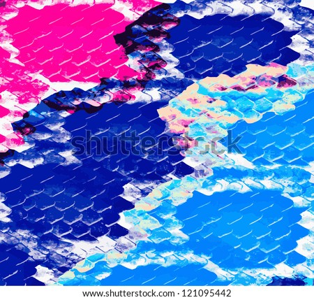 Abstract background with boa skin pattern in vector format tracing. - stock vector