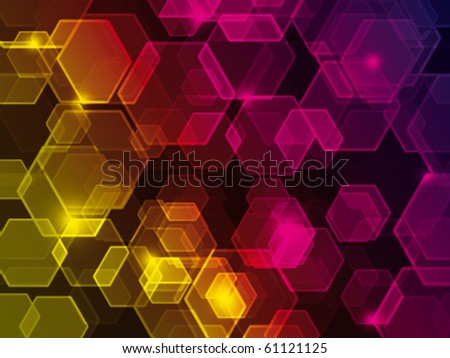 Abstract background with bokeh effect - stock vector