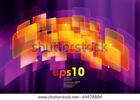 Abstract background with bokeh effect. - stock vector