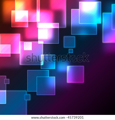 Abstract background with bokeh effect. Vector. - stock vector