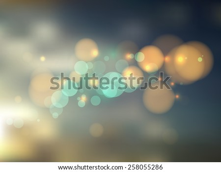 abstract background with bokeh lights and stars for use as card,brochure or webpage background  - stock vector