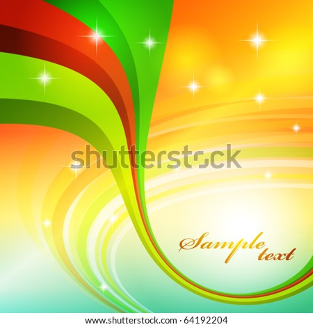 Abstract background with bright color line. Vector - stock vector