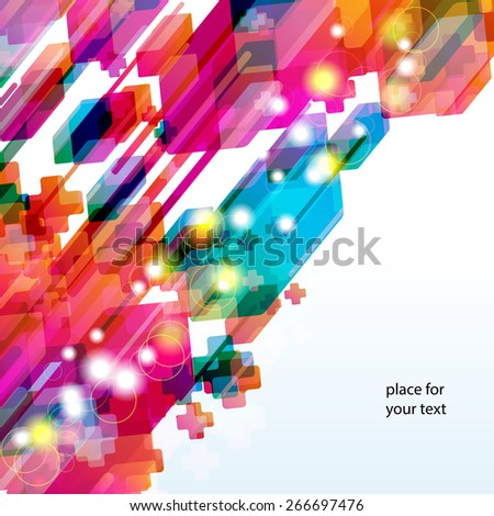 Abstract background with bright desing elements. - stock vector