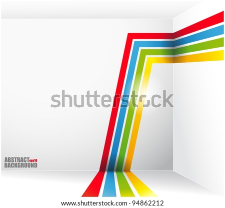 Abstract background with bright strips and a place under the text. vector - stock vector