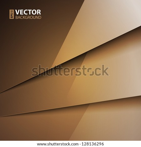 Abstract background with brown paper layers. RGB EPS 10 vector illustration - stock vector