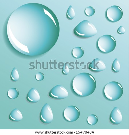 Abstract background with bubbles in the layer of water. Vector. - stock vector