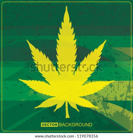 Abstract background with cannabis leaf - stock vector