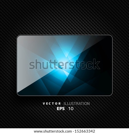 Abstract background with carbon texture and geometric elements - stock vector