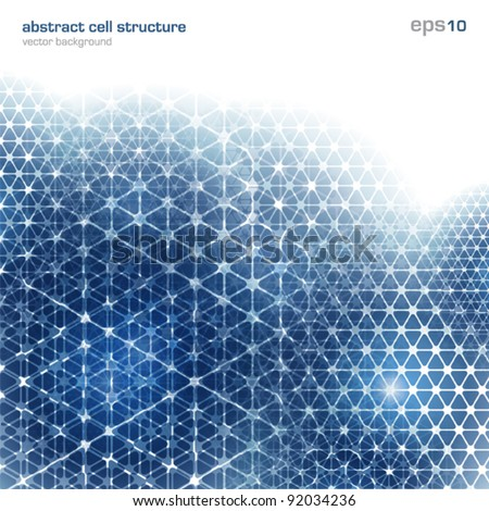 Abstract background with cell structure - stock vector