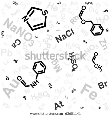 abstract background with chemical formula - stock vector