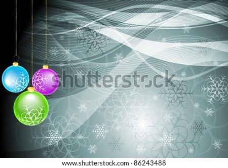 Abstract background with Christmas tree balls. Vector eps 10