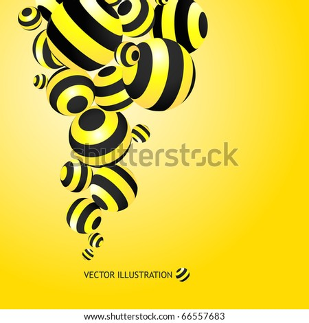Abstract background with circle elements. - stock vector