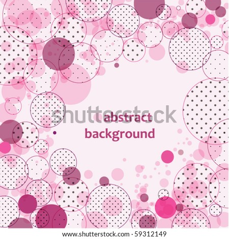 Abstract background with circles and polka dots - stock vector