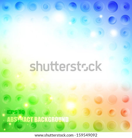 Abstract background with circles. Spring colors. Summer colors.
