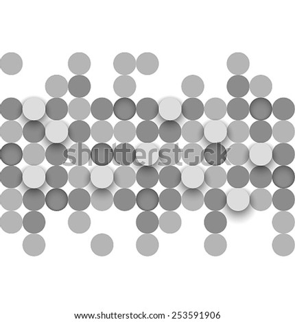 Abstract background with circles. Vector illustration. - stock vector
