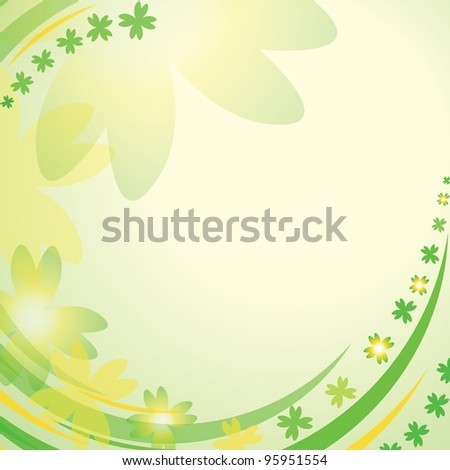 Abstract background with clover leaves for st. Patrick's day. Vector Illustration - stock vector