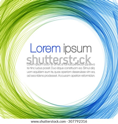 Abstract background with color frame - stock vector