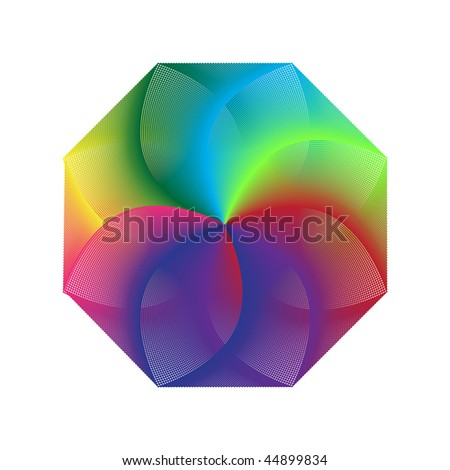 abstract background with color illusion - stock vector