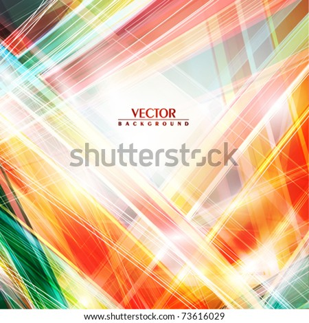 Abstract background with color line. Vector - stock vector