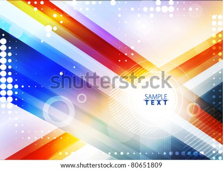 Abstract background with color line. Vector