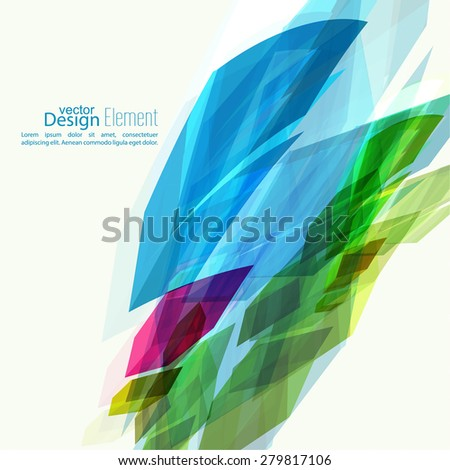 Abstract background with colored crystals, trellis structure. For cover book, brochure, flyer, poster, magazine, booklet, leaflet, cd cover design, mobile app, annual report template, green, magenta - stock vector