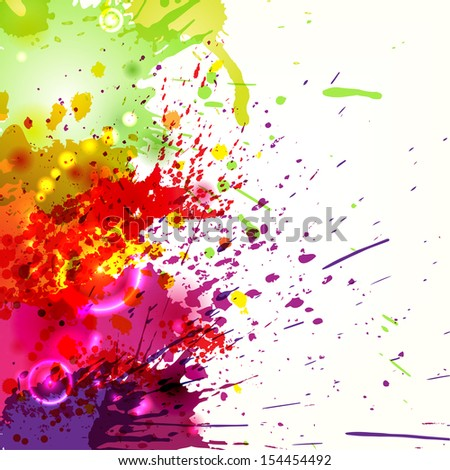 Abstract background with colored ink blots. eps10 - stock vector