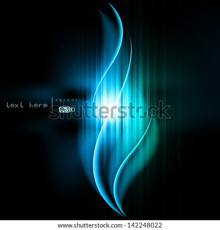 Abstract background with colored lines and geometric elements - stock vector