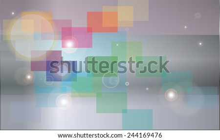 Abstract background with colored shapes - stock vector