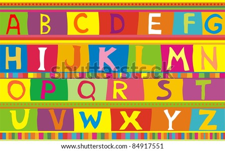 Abstract background with colorful alphabet. Vector Illustration - stock vector